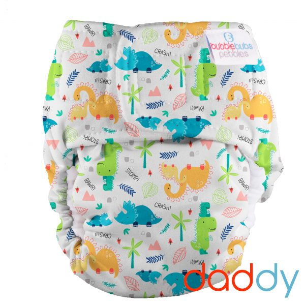 pebbles-all-in-one-newborn-reusable-cloth-nappy-dinosaurs
