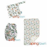 spring fawn mini wetbag change mat bo peep bundle