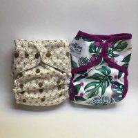 Two pocket cloth nappies